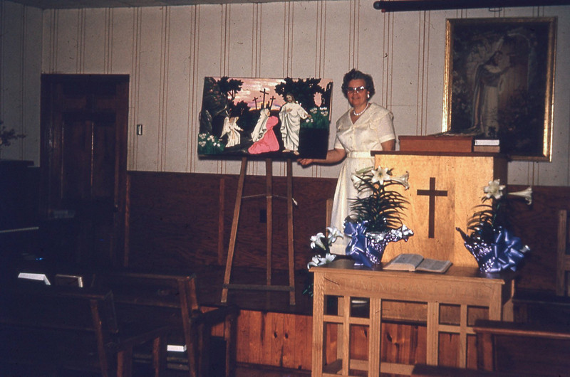 1970-''WINNIE TEACHING THE EASTER LESSON''.jpg