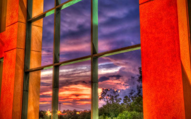 Windows Sunset Clouds