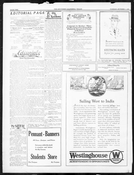The Southern California Trojan, Vol. 16, No. 8, October 07, 1924