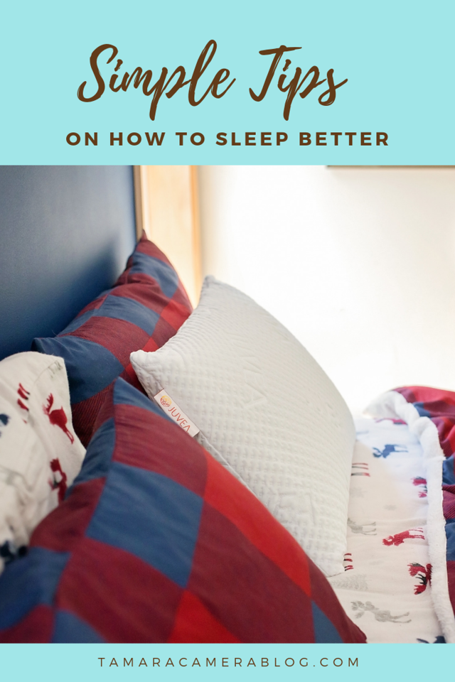 Here are our best simple tips for how to sleep better, as well as an AWESOME giveaway for an amazing Juvea pillow. #ad #rejuvenatewithjuvea #juvea #juveapillows #talalaylatex #naturallatex #naturalsleep #bettersleepmonth #bettersleep #healthyliving #luxurypillow #madeintheusa #ownthemorning #talalaynaturallatex #pillow #favoritepillow