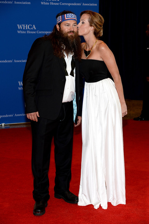 . Willie Robertson and Korie Robertson attend the 100th Annual White House Correspondents\' Association Dinner at the Washington Hilton on May 3, 2014 in Washington, DC.  (Photo by Dimitrios Kambouris/Getty Images)