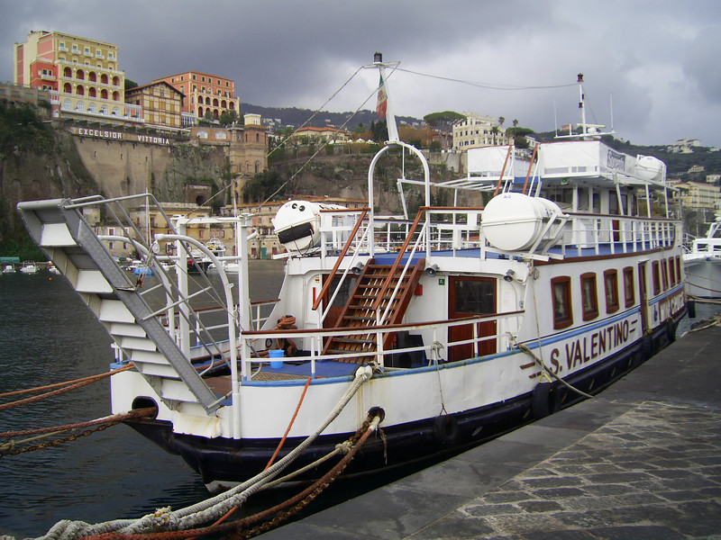 2009 - S.VALENTINO on winter laid up in Sorrento.