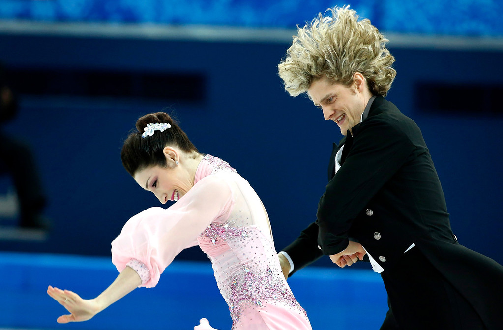 . Meryl Davis and Charlie White of USA perform during the Ice Dance Short Dance of the Figure Skating event at the Iceberg Palace during the Sochi 2014 Olympic Games, Sochi, Russia, 16 February 2014.  EPA/BARBARA WALTON