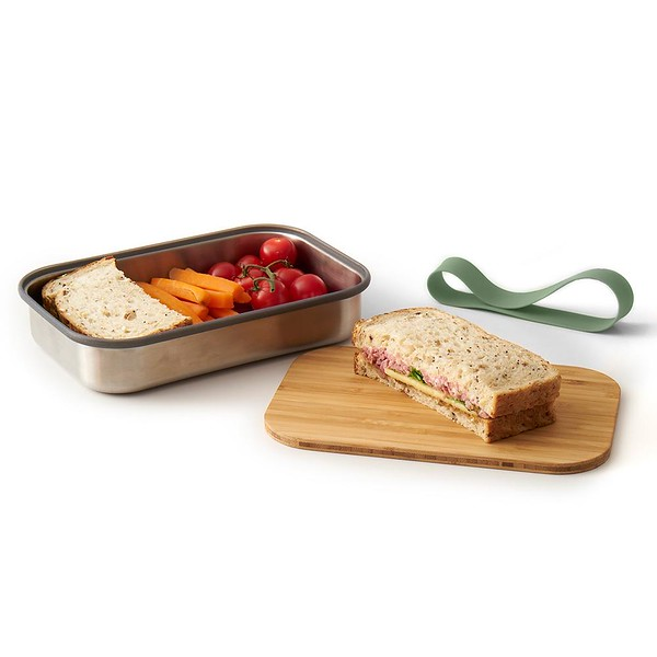 Stainless Steel Sandwich Box Black Blum