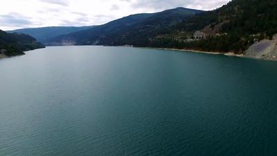 The Libby Dam, Koocanusa Lake and Koocanusa Bridge
