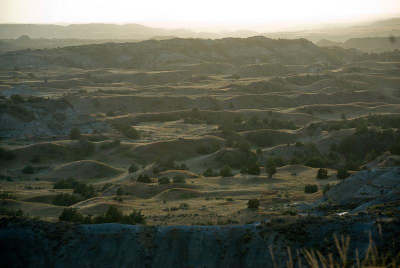 Panorama of Theodore Roosevelt National Park - North Dakota