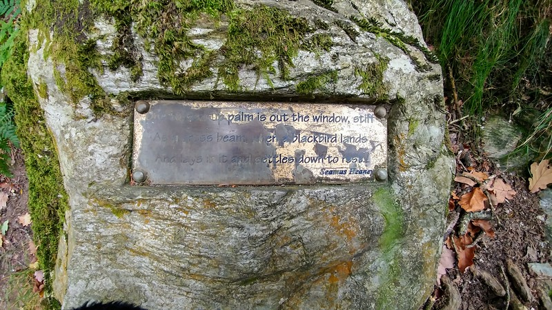 plaque placed inside stone