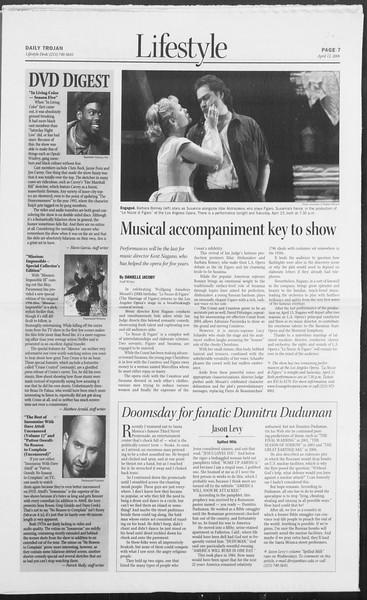 Daily Trojan, Vol. 157, No. 56, April 12, 2006