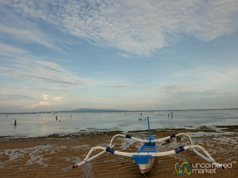 Boat on Shore at Sanur Beach - Bali, Indonesia