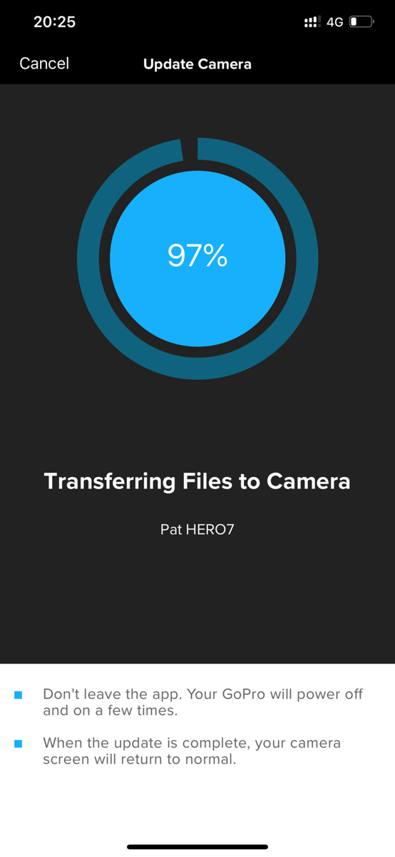 GoPro Hero 7 Magic Updating Firmware