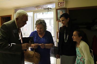 Bethany Lodge #529 - Gaylord Lackey an 80 year Master Mason, certificate presentation
