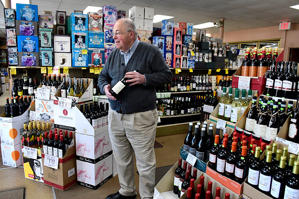 3/24/2020 Mike Orazzi | Staff Marvin Friedman at the Maple End Package Store on Route 6 in Bristol.