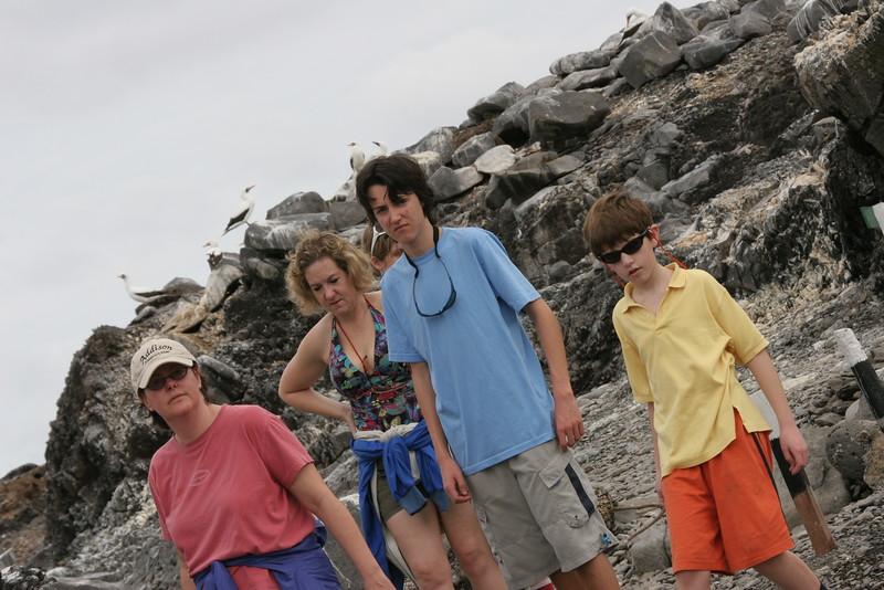 2007-02-19-0036-Galapagos with Hahns-Day 3, Espanola-ElaineH-Debby-Evan-Jeremy.JPG