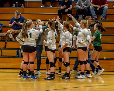 Pregame Set two: Vashon Island High School Varsity Volleyball v Chimacum 09/20/2018