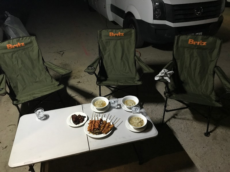 Food to cook in a campervan
