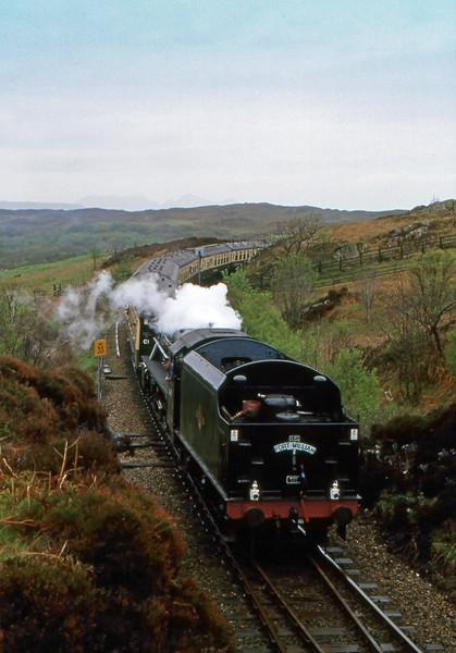 Jacobite Steam Train - Between Kinlocheil and Mallaig, Scotland, UK - May 18, 1989