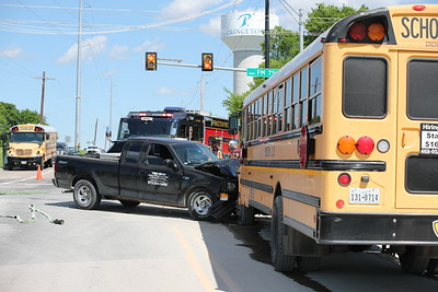 Princeton TX. Bus vs. pick up Monte Carlo/ FM 75  4/25/19