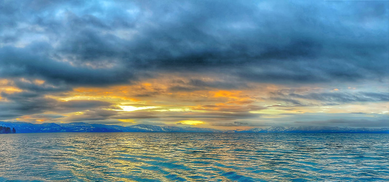 Sunrise Panoramic, Lake Tahoe, Kings Beach, California