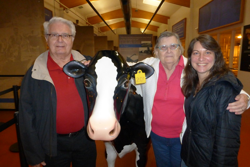 Us with Tilly the cow