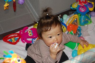 April 2, 2008 - The rare triple ponytail.
