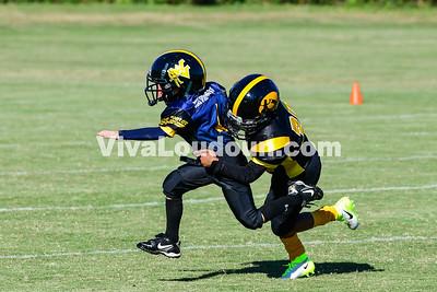 Youth Football: AYFL D-Mountaineers vs. D-Hawkeyes 10.21.2017 (by Al Shipman)