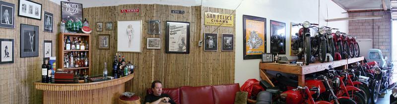 Superwide shot of Moto Guzzino's lounge