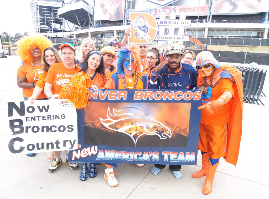 . United in Orange outside Mile High. Photo by Tammy Quon