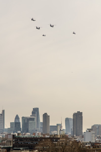 Military flypast over London