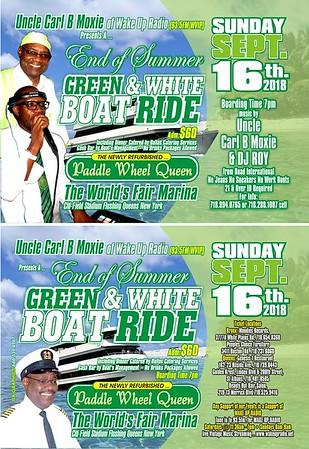 "CARL B MOXIE ""GREEN & WHITE BOAT RIDE 2018(18)"