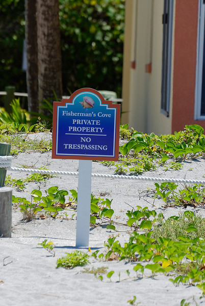 A Sign in The Sand - Siesta Key Florida