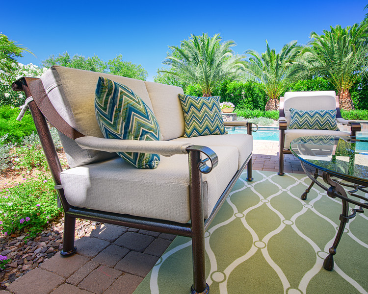 Stan & Patricia Carver Home Patio furniture  & home photos