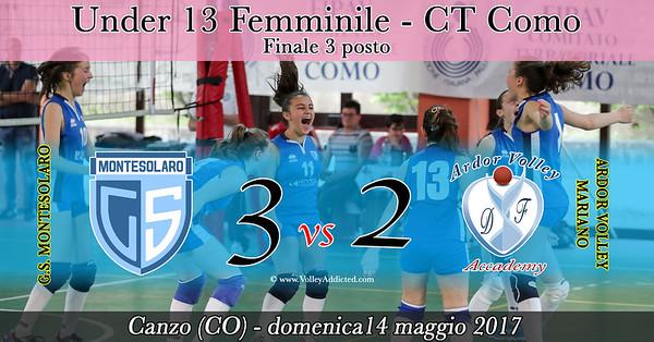 CO-u13f Finale 3 Posto: Montesolaro - Ardor Volley Mariano