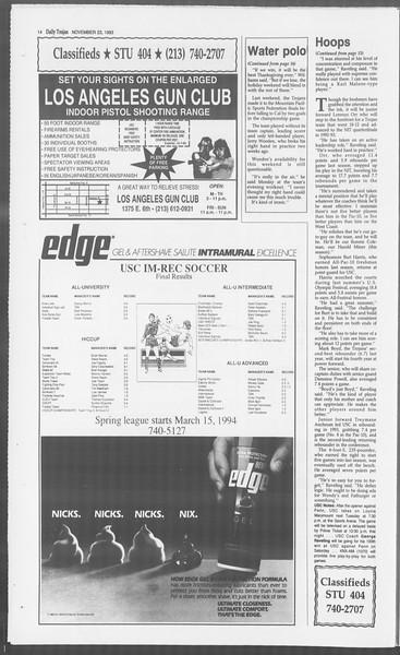 Daily Trojan, Vol. 121, No. 59, November 23, 1993