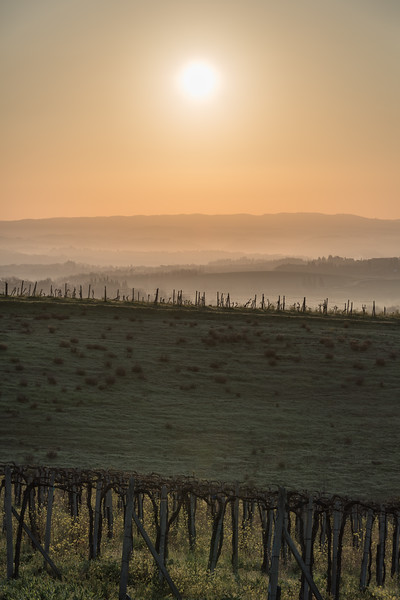 Sunrise - San Gimignano, Siena, Italy - March 26, 2016