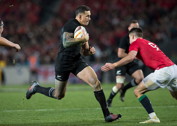 Sonny Bill Williams during game 7 of the British and Irish Lions 2017 Tour of New Zealand, the first Test match between  The All Blacks and British and Irish Lions, Eden Park, Auckland, Saturday 24th June 2017 (Photo by Kevin Booth Steve Haag Sports)  Images for social media must have consent from Steve Haag