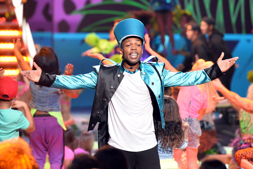 . Singer Todrick Hall performs onstage during Nickelodeon\'s 27th Annual Kids\' Choice Awards held at USC Galen Center on March 29, 2014 in Los Angeles, California.  (Photo by Kevin Winter/Getty Images)