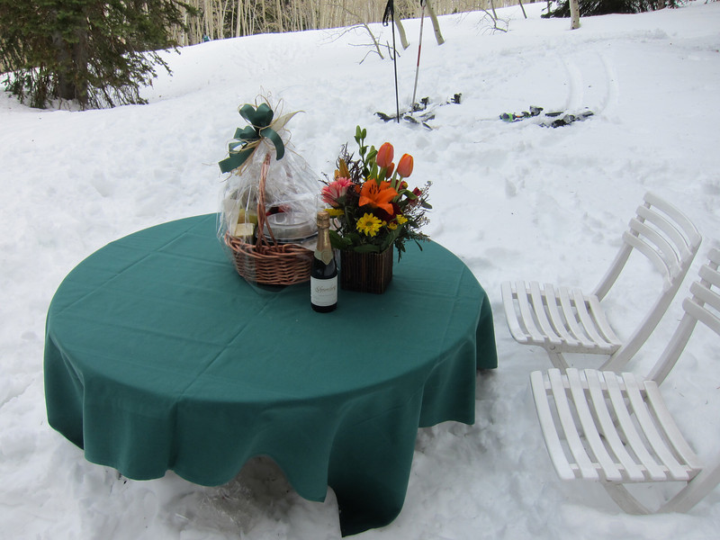 We had a picnic lunch in a protected glade just above Sunset Cabin.