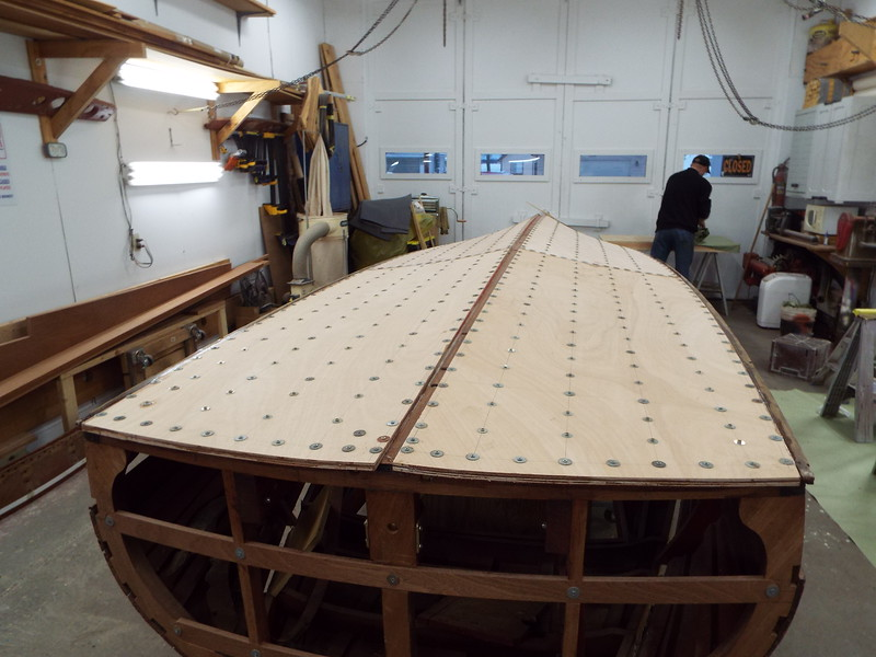 Rear view of the second bottom layer installed.