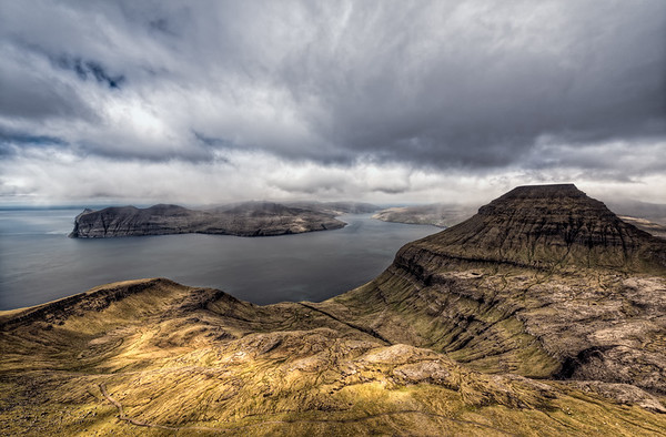 On the Top of The Faroe Islands