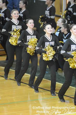 01/18/2014 Poolesville HS Poms Division 2 at Damascus HS,  Photos by Jeffrey Vogt Photography & Kyle Hall