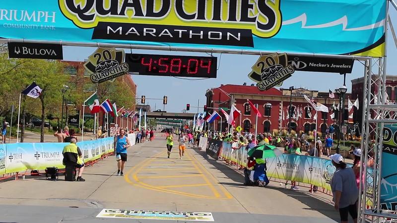 Quad Cities Marathon Hayden Finish