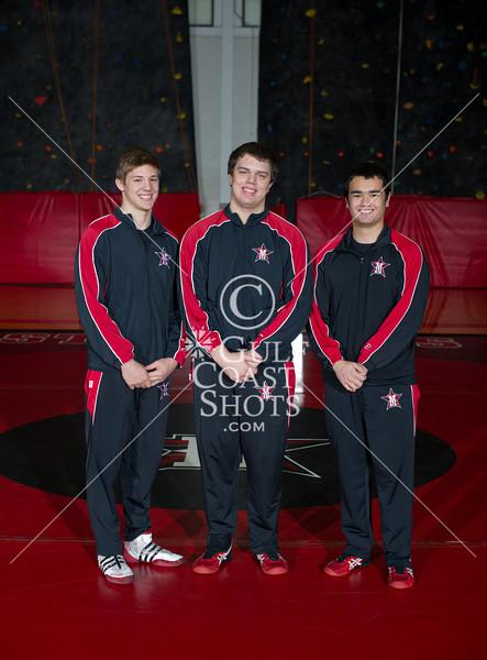 2012-01-20 Wrestling Upper-School St. John's Team Portrait