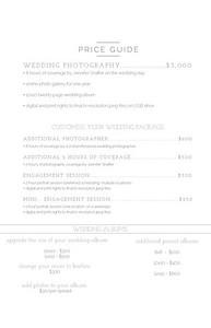WeddingPriceList