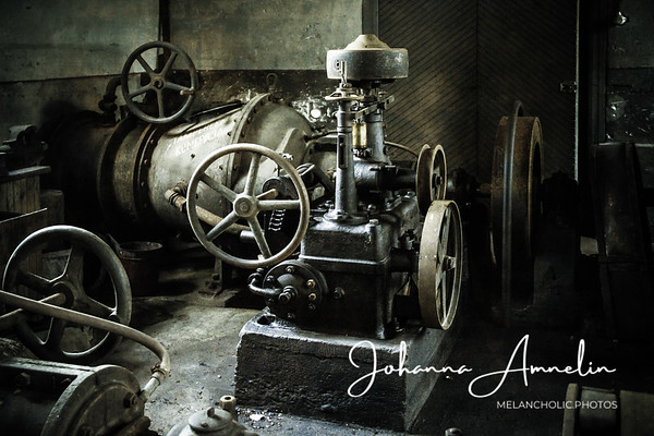 Abandoned mill and a water power plant