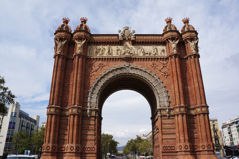 A replica of the Arc de Triomf in Barcelona.