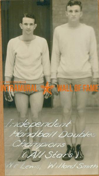 HANDBALL Independent Doubles Champions  All Stars  W. F. Lewis & Willard Smith