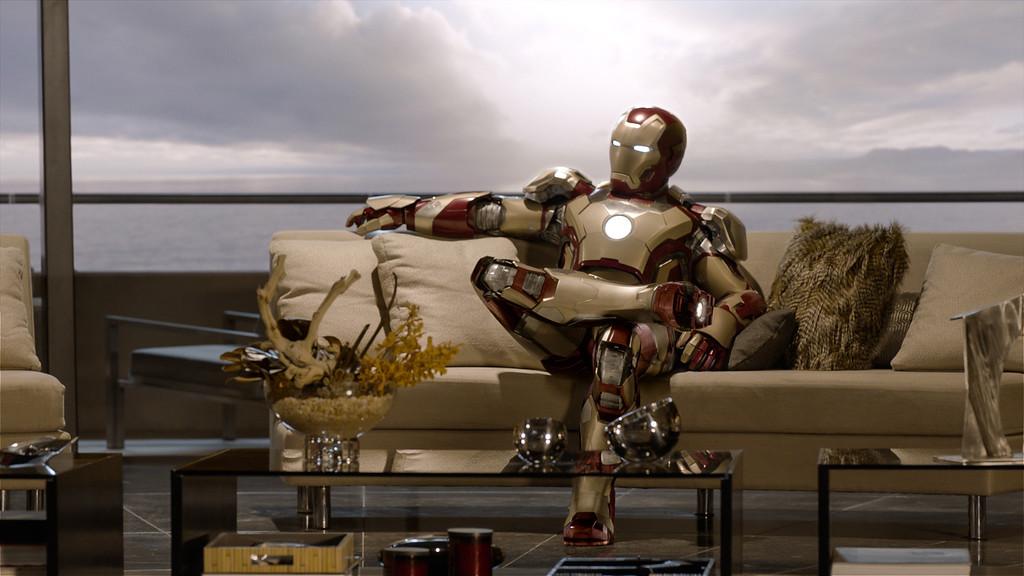 ". \""Marvel\'s Iron Man 3\"" Tony Stark/Iron Man (Robert Downey Jr.)  Film Frame. © 2012 MVLFFLLC.  TM & © 2012 Marvel.  All Rights Reserved."
