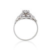 0.58ctw Old European Cut Diamond Art Deco Illusion Ring 2