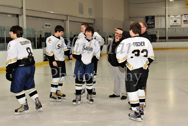 Cocalico/Garden Spot VS Berks Catholic Ice Hockey Senior Night 2011 - 2012