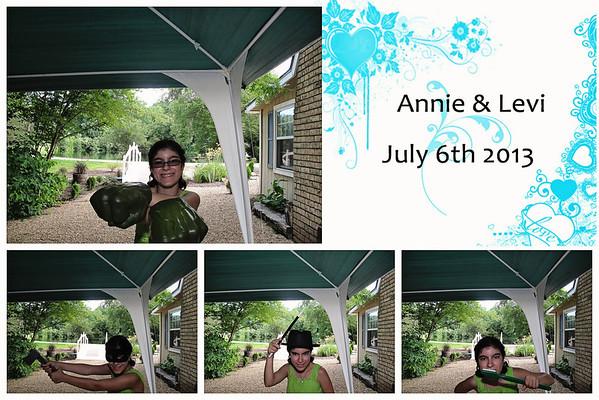 Annie Marie & Levi Wedding Photo Booth